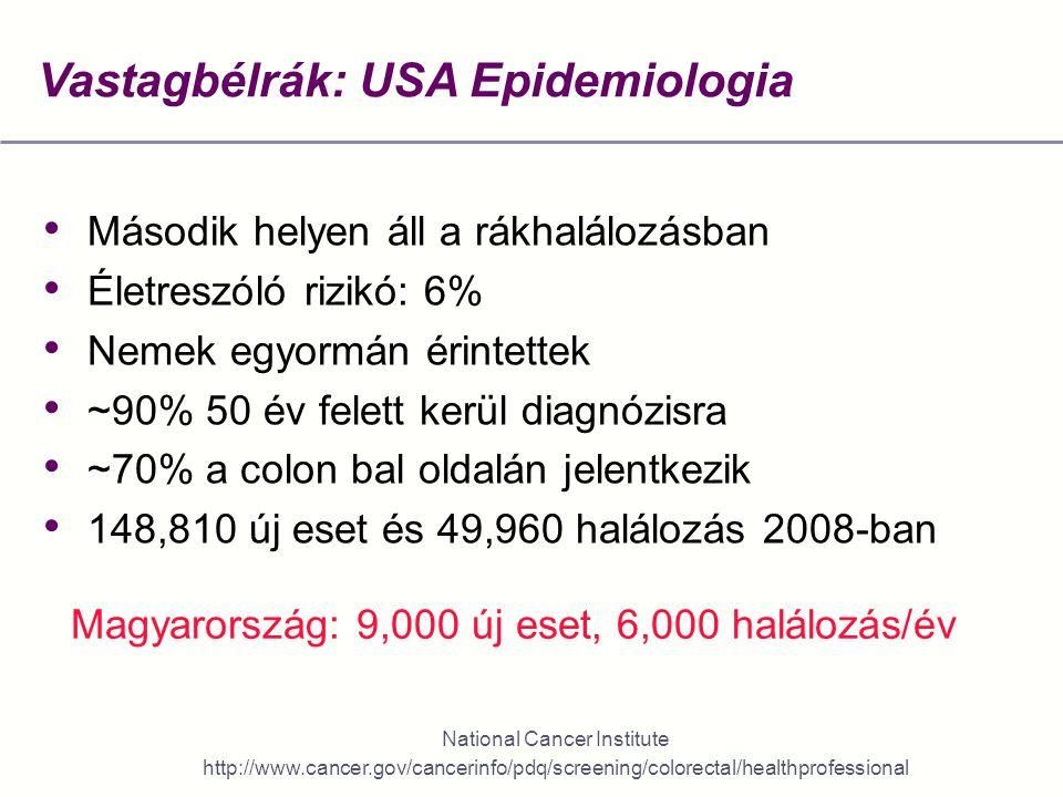 vastagbélrák epidemiológia