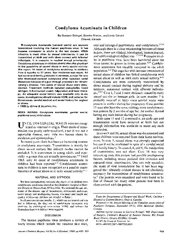 a condyloma befolyásolja a hatékonyságot