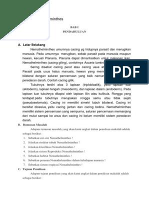 Peranan nemathelminthes dalam kehidupan seharihari, TK - PDF Free Download