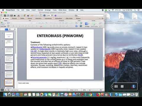 Enterobiasis (pinworms) gyermekeknél - Enterobiosis tartály Tartály enterobiasishoz