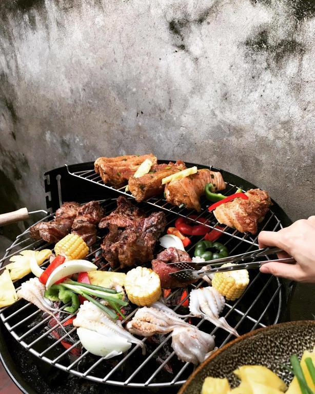grill gombát