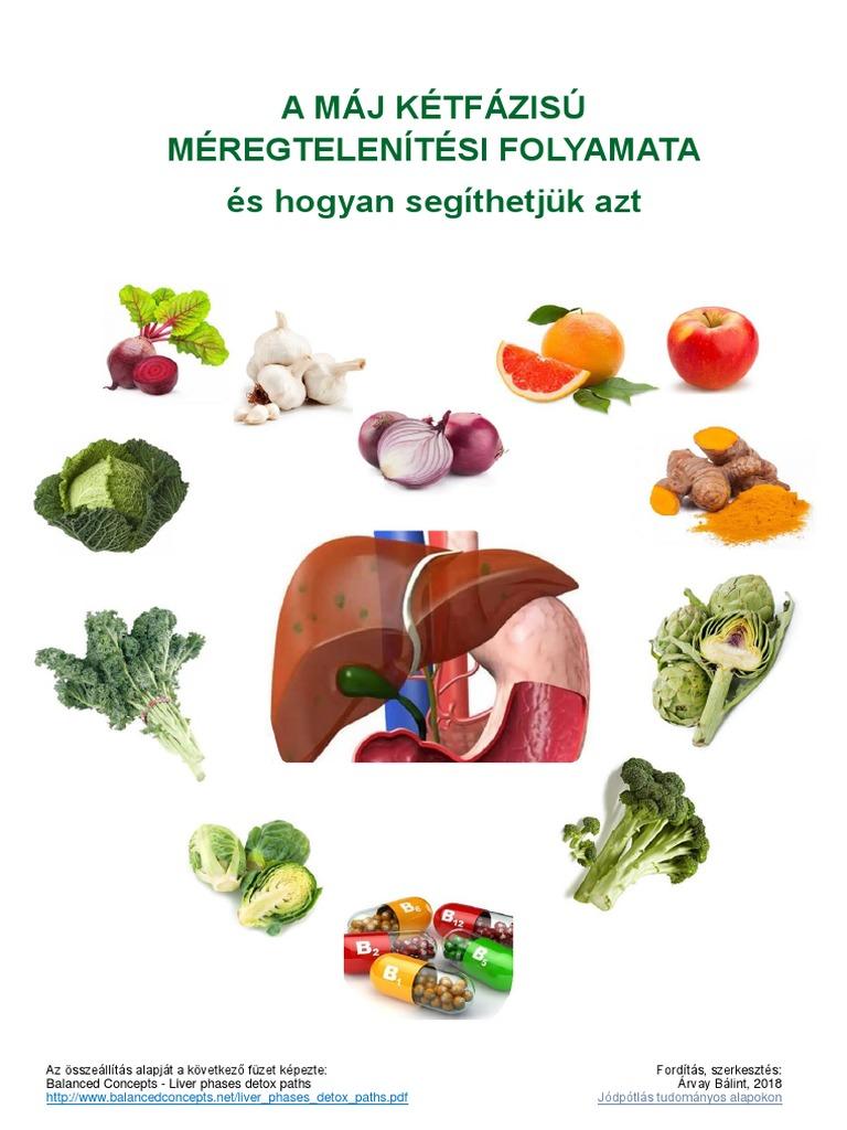 zöldségek a máj méregtelenítésére