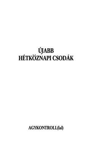 az emberi agykontroll parazitái)