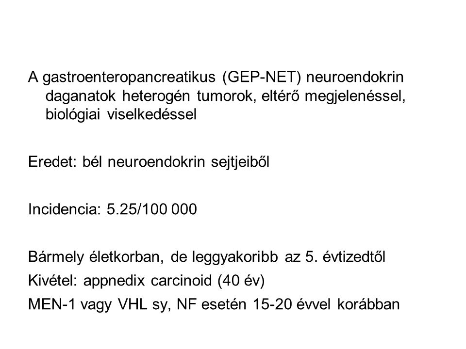 neuroendokrin hosszú rák