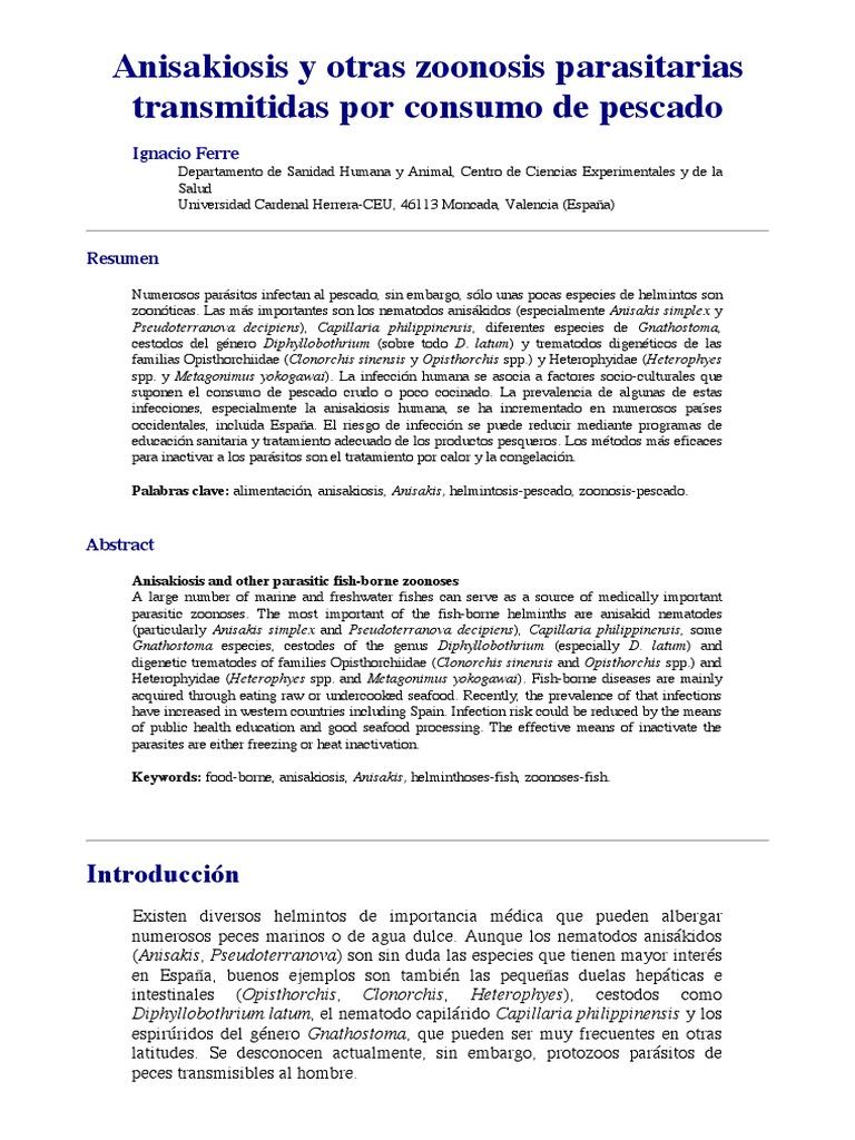 opistorhiosis helminthiasis)