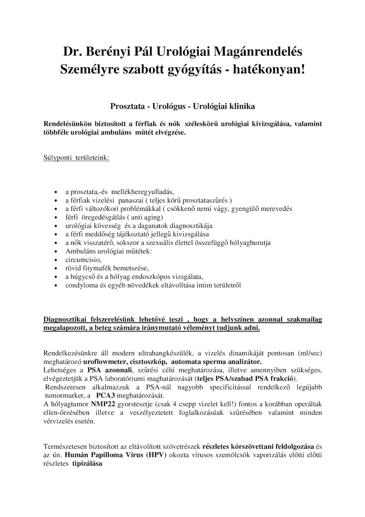 Dr. Diag - Papilloma urethrae