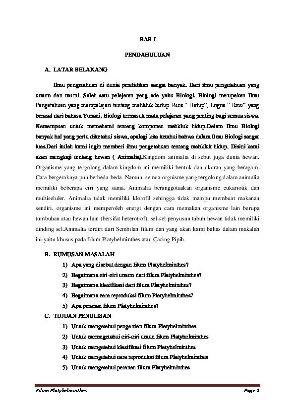 platyhelminths 3 példa