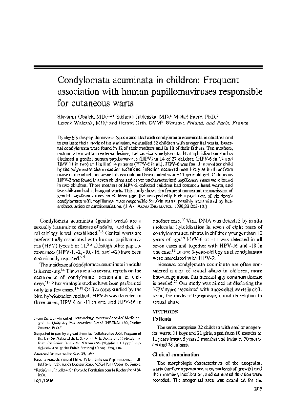 condylo papilloma