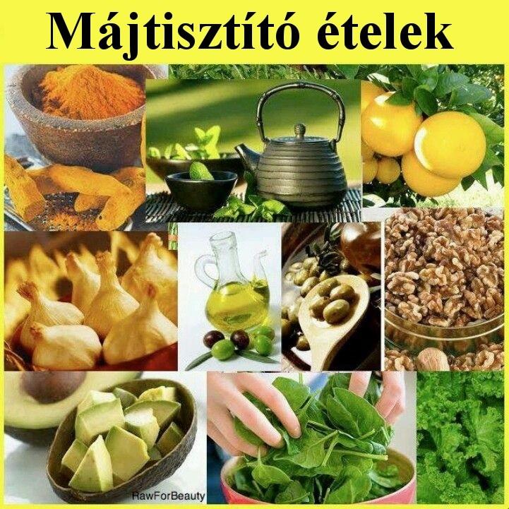 méregtelenítő ételek a máj számára