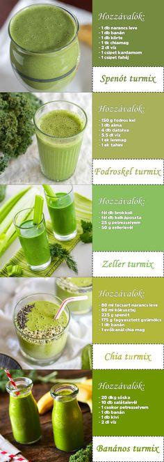 méregtelenítő turmix receptek