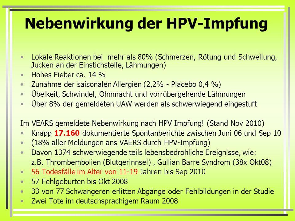 hpv impfung schmerzen)