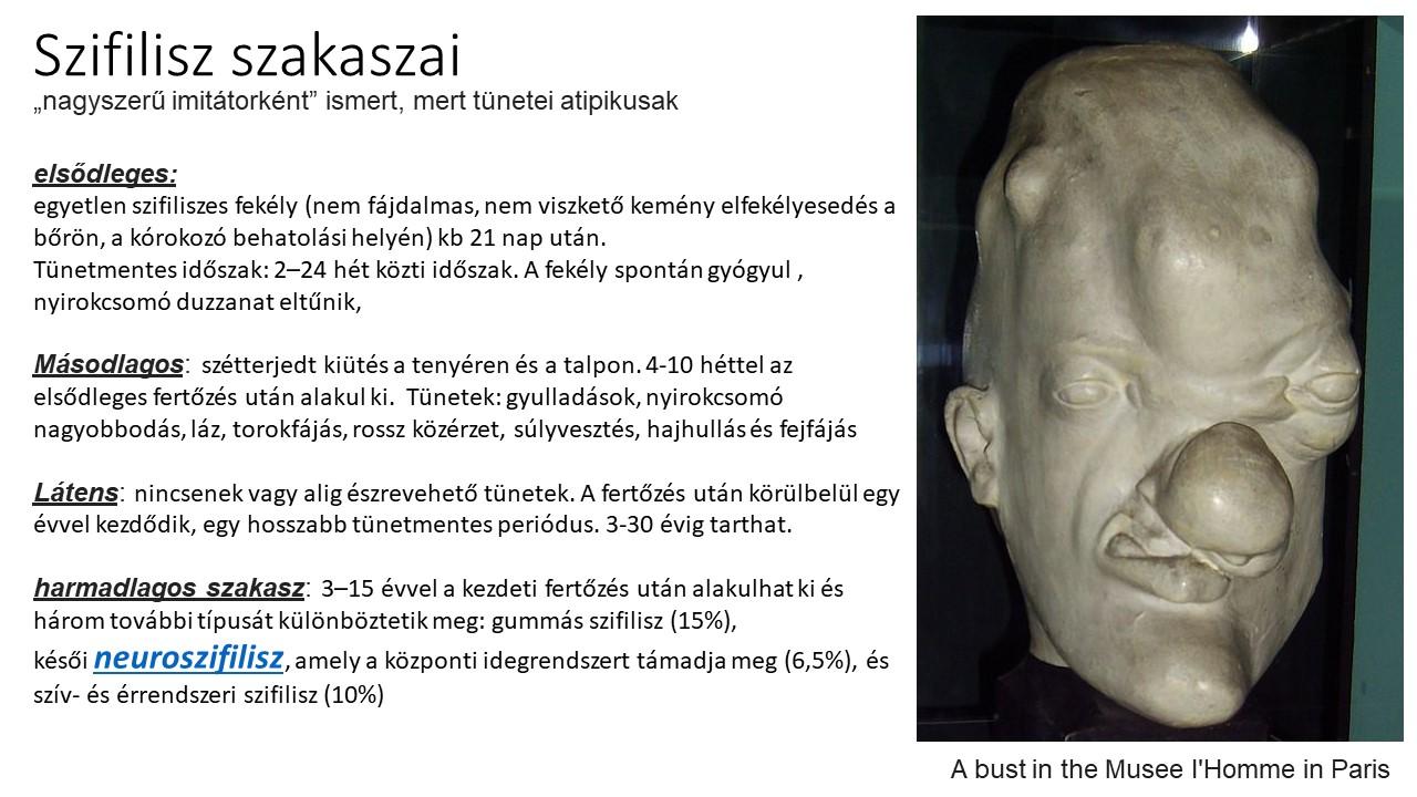 szifiliszes szemölcsök)