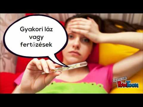 bikaféreg a szájban)