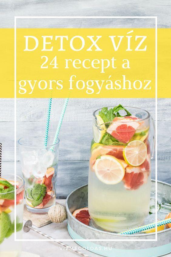 méregtelenítő víz receptje)