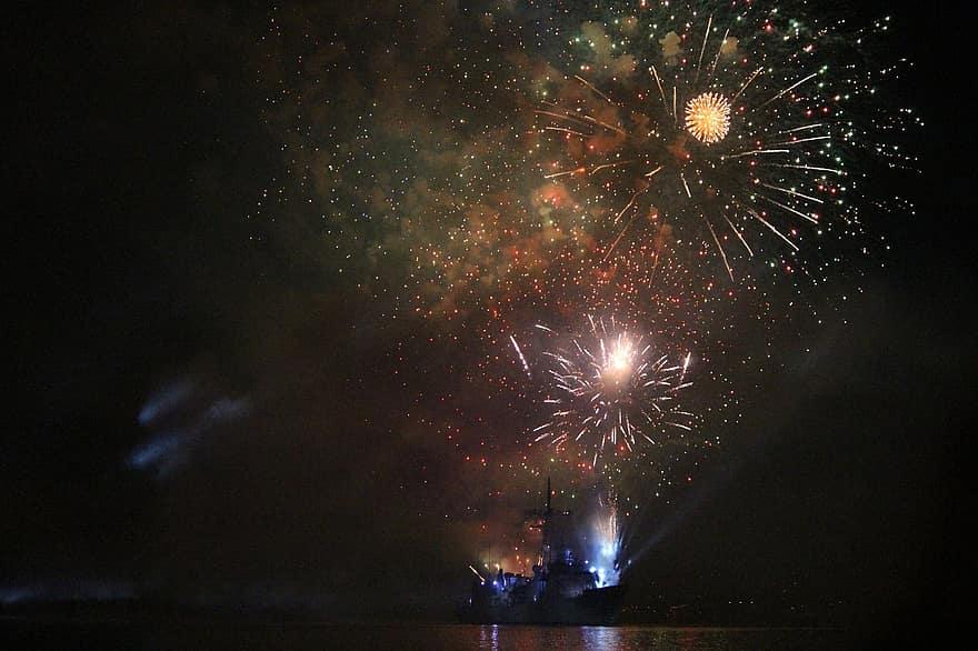 magányos tűzijáték