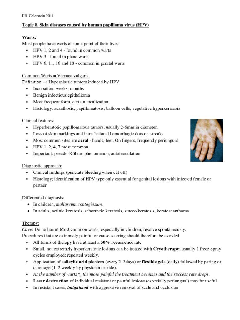 papilloma vírus keratosis)
